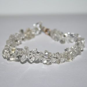 "Beautiful Quartz Crystal Bracelet 6.5"""